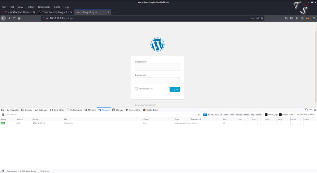 using firefox to capture the post command
